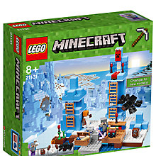 Buy LEGO Minecraft 21131 The Ice Spikes Online at johnlewis.com