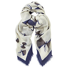 Buy Baum und Pferdgarten Lowell Printed Wool Scarf, Bluejay Online at johnlewis.com