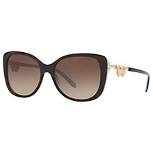 Buy Tiffany & Co TF4129 Rectangular Sunglasses, Tortoise/Brown Gradient Online at johnlewis.com