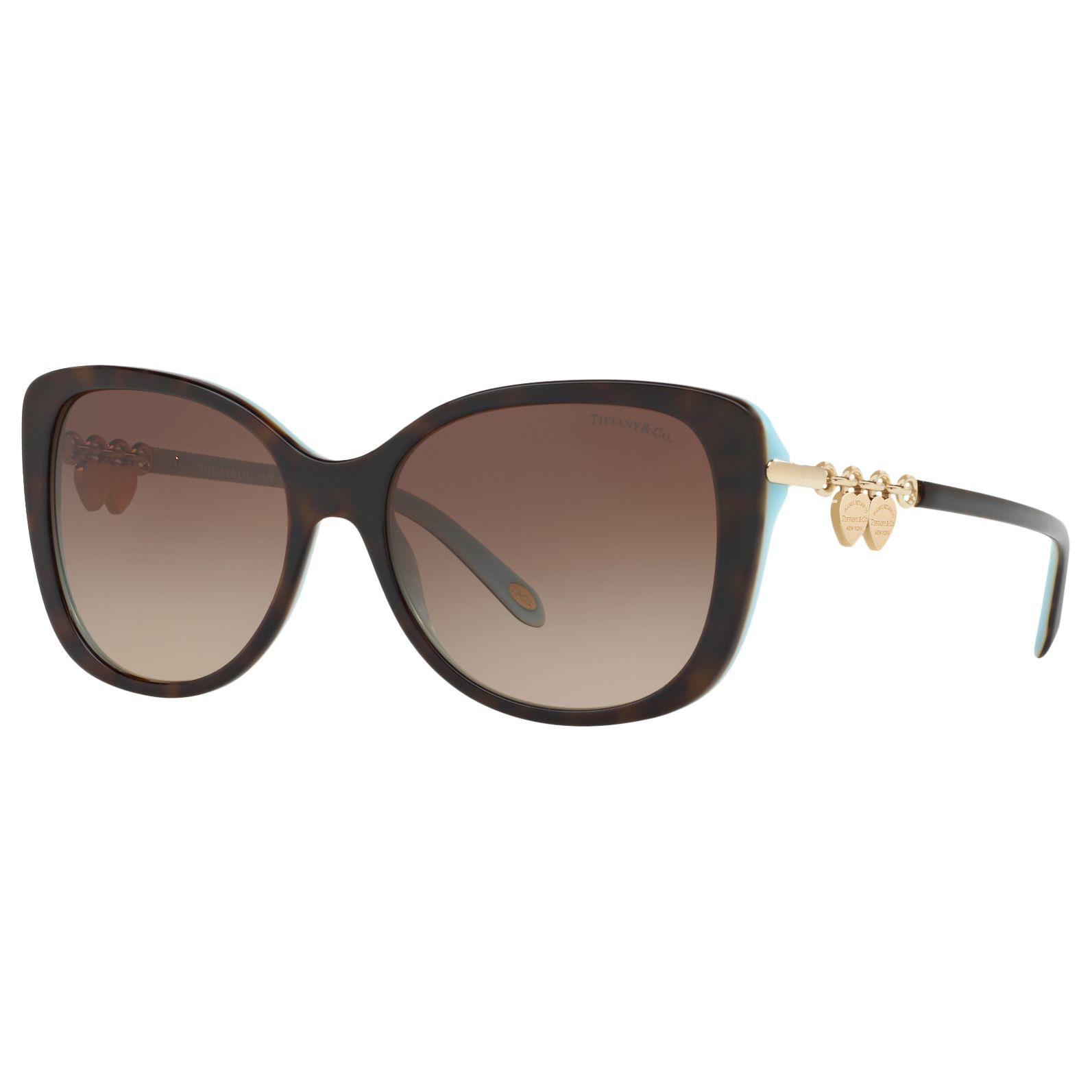 Tiffany & Co Tiffany & Co TF4129 Rectangular Sunglasses, Tortoise/Brown Gradient
