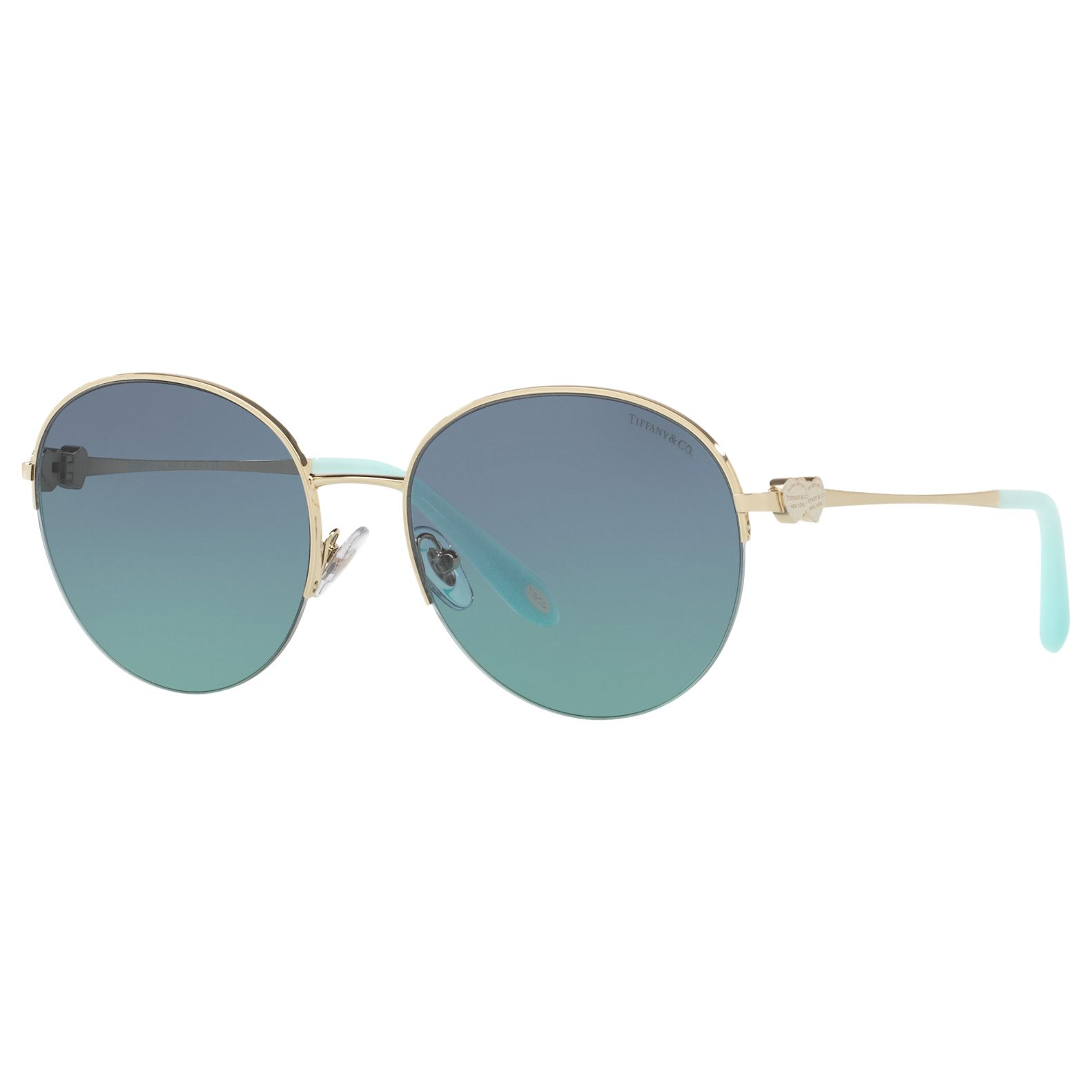 Tiffany & Co Tiffany & Co TF3053 Round Sunglasses, Gold/Blue Gradient