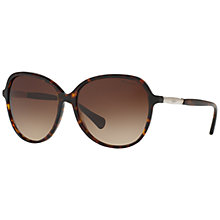 Buy Ralph RA5220 Oversize Square Sunglasses, Tortoise/Brown Gradient Online at johnlewis.com