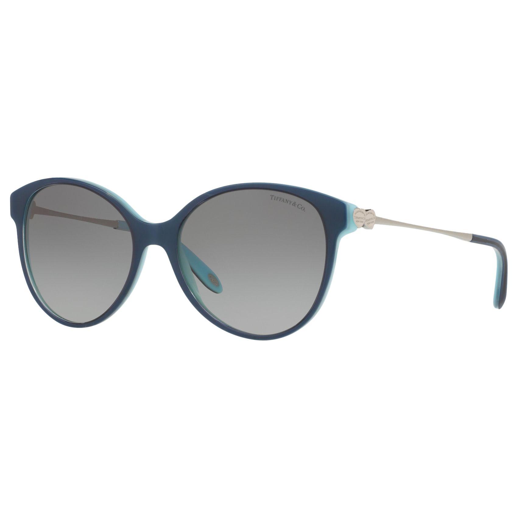 Tiffany & Co Tiffany & Co TF4127 Oval Sunglasses, Indigo/Grey Gradient