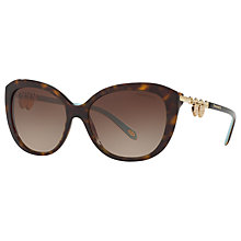 Buy Tiffany & Co TF4130 Cat's Eye Sunglasses, Tortoise/Brown Gradient Online at johnlewis.com