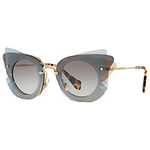 Buy Miu Miu MU 02SS Triple Butterfly Frame Sunglasses Online at johnlewis.com