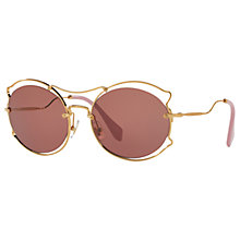 Buy Miu Miu MU 50SS Geometric Sunglasses Online at johnlewis.com