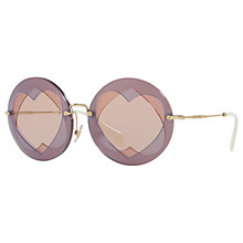 Buy Miu Miu MU 01SS Round Sunglasses Online at johnlewis.com