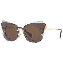 Buy Miu Miu MU 02SS Triple Butterfly Frame Sunglasses, Multi/Brown Online at johnlewis.com