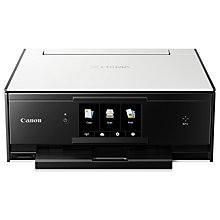 Buy Canon PIXMA TS9050 All-in-One Wireless Wi-Fi Printer with Auto-Tilting Touch Screen, White/Black Online at johnlewis.com