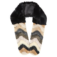 Buy Miss Selfridge Pretty Fun Faux Fur Stole, Multi Online at johnlewis.com