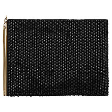 Buy Reiss Cindy Embellished Zip Pouch, Black Online at johnlewis.com