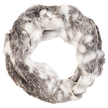 Buy Chesca Faux Fur Scarf, Snow Wolf Online at johnlewis.com