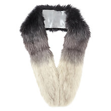 Buy Miss Selfridge Ombre Faux Fur Stole, Grey Online at johnlewis.com