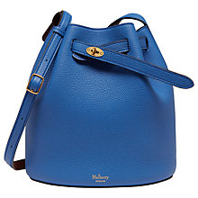 Buy Mulberry Abbey Small Classic Grain Bucket Bag, Porcelain Blue / Oxblood Online at johnlewis.com
