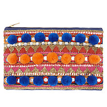 Buy AND/OR Pom Pom Mirror Clutch Bag Online at johnlewis.com