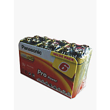 Buy Panasonic Pro Power Alkaline 9V Battery, Pack of 6 Online at johnlewis.com
