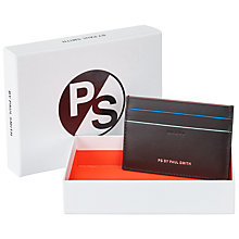 Buy Paul Smith City Leather Card Holder, Black Online at johnlewis.com