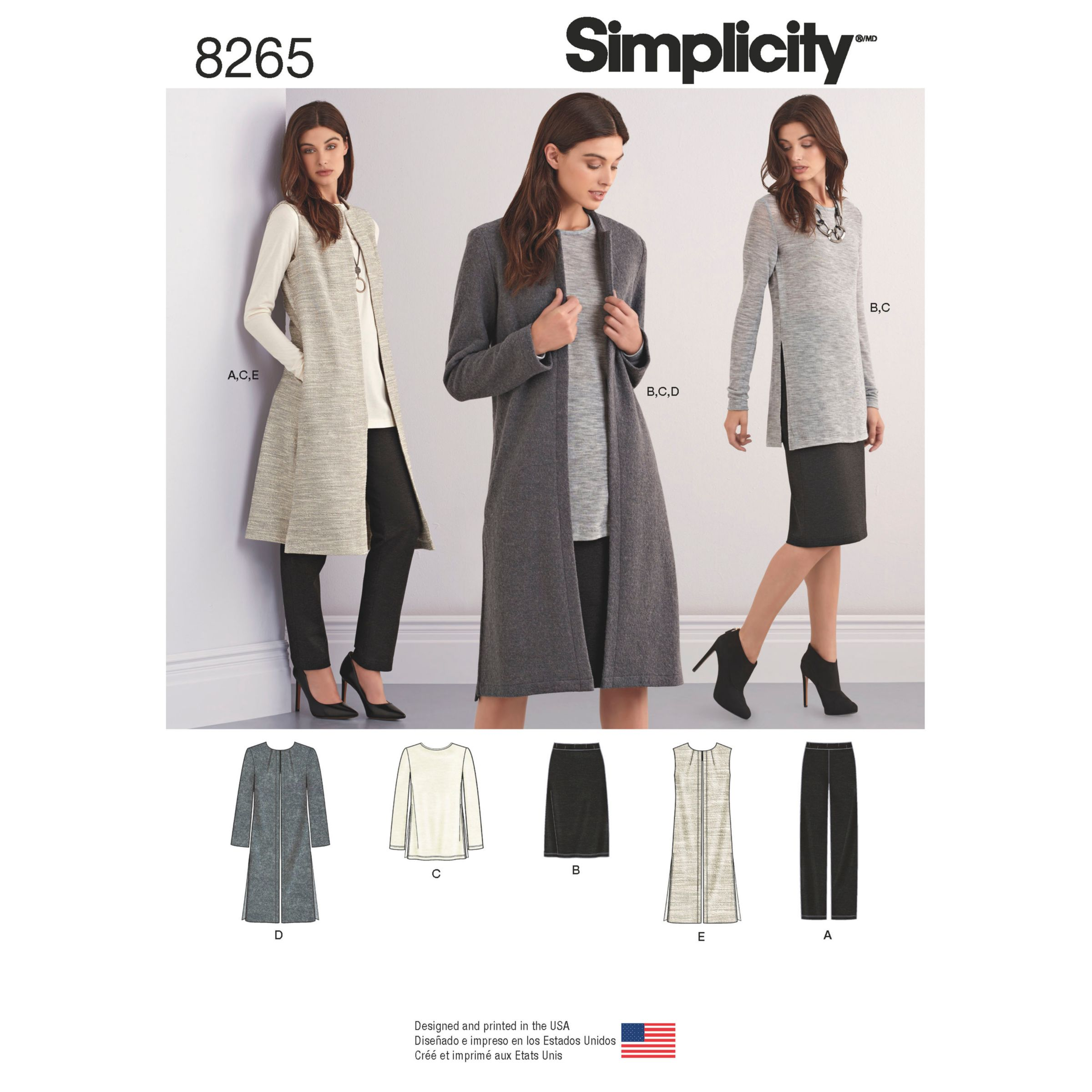 Simplicity Simplicity Misses' and Miss Petite Separates Sewing Pattern, 8265