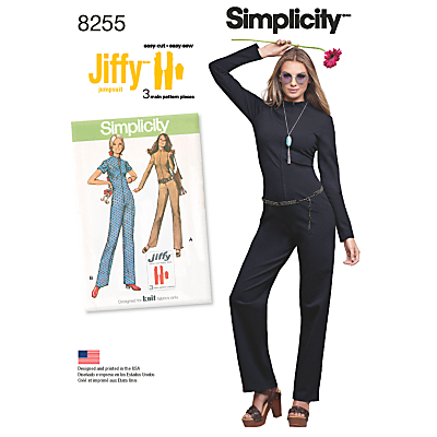 1960s Sewing Patterns- Dresses, Tops, Pants etc Simplicity Misses Womens Vintage Jiffy Jumpsuit Sewing Pattern 8255 £4.47 AT vintagedancer.com