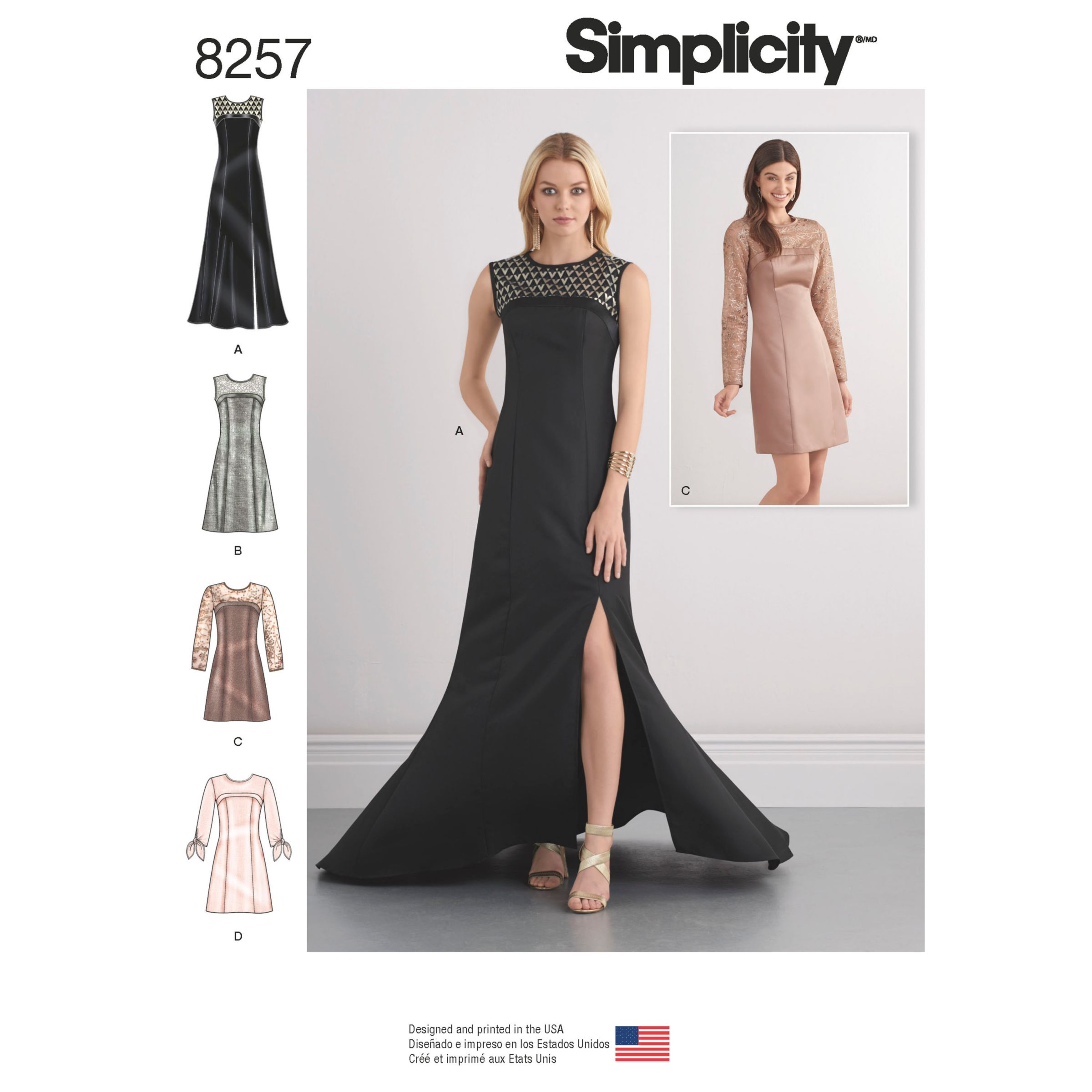 Simplicity Simplicity Special Occasion Dresses and Gown Sewing Pattern, 8257