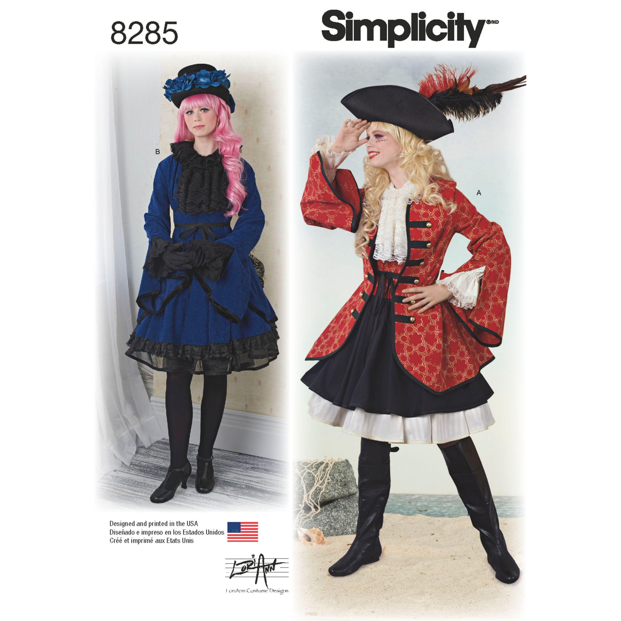 Simplicity Simplicity Misses' Women's Costumes from Lori Ann Costume Design Sewing Pattern, 8285