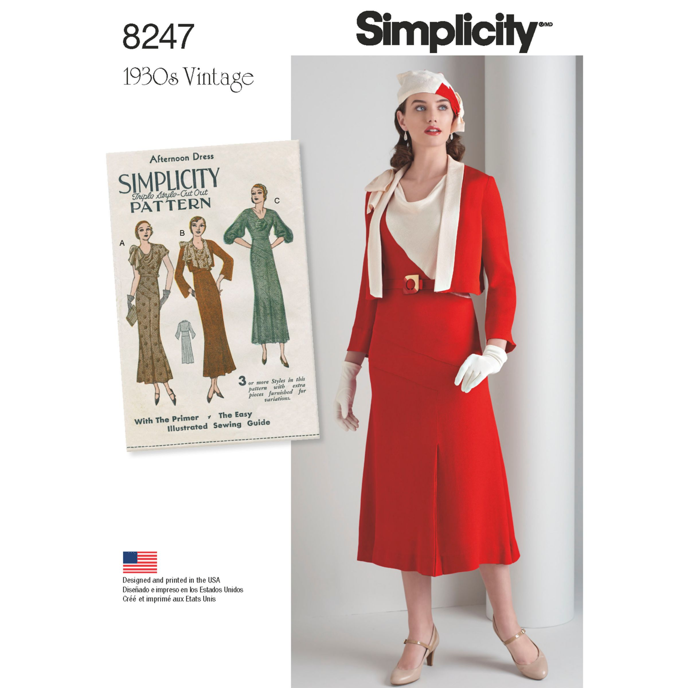 Simplicity Simplicity Women's 1930s Dress and Jacket Sewing Pattern, 8247