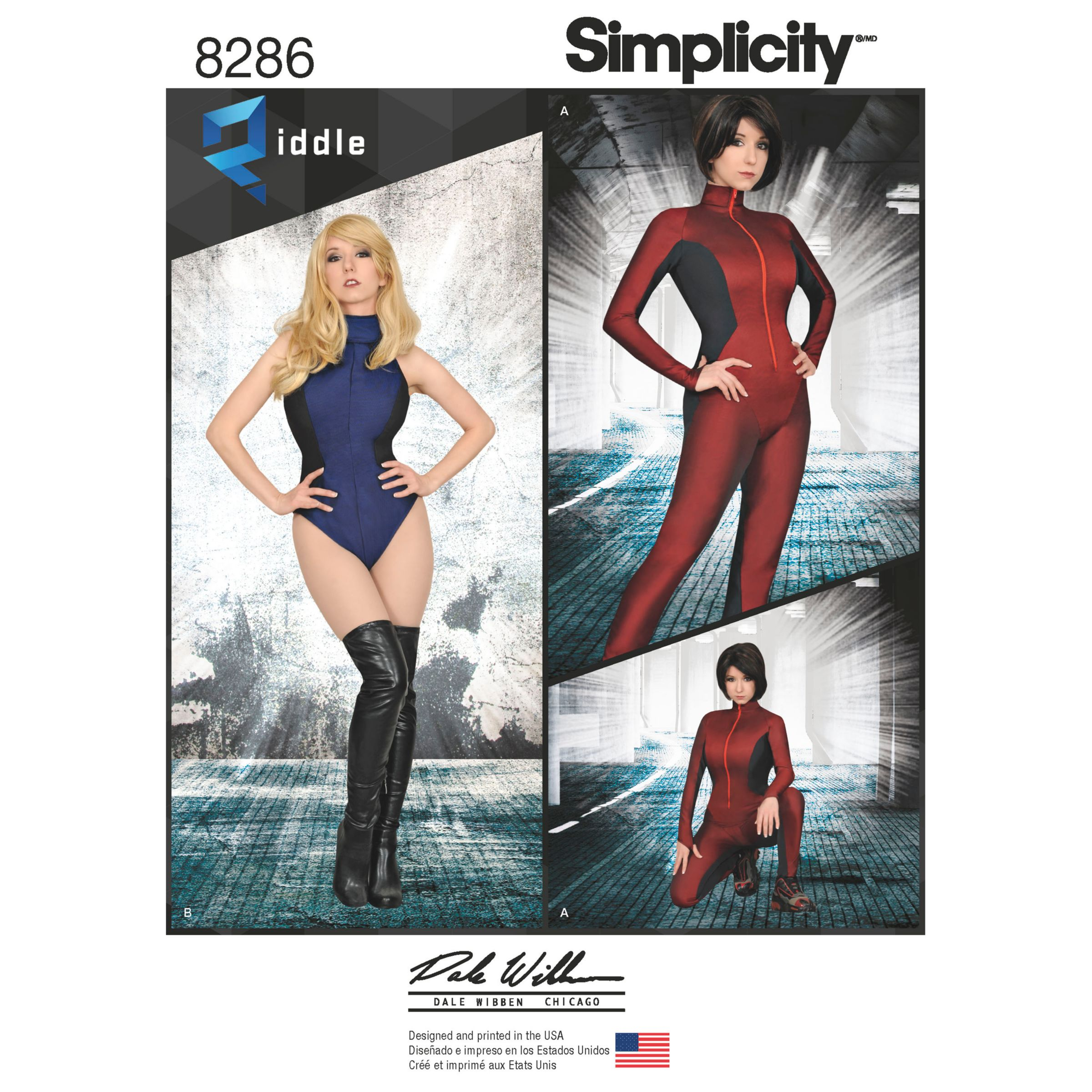 Simplicity Simplicity Misses' Women's Knit and Woven Jumpsuit and Leotard Sewing Pattern, 8286