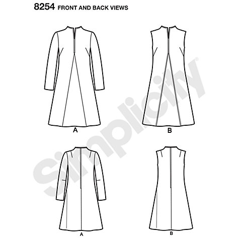 buy simplicity vintage s and plus size 1960s dresses sewing pattern 8254 lewis