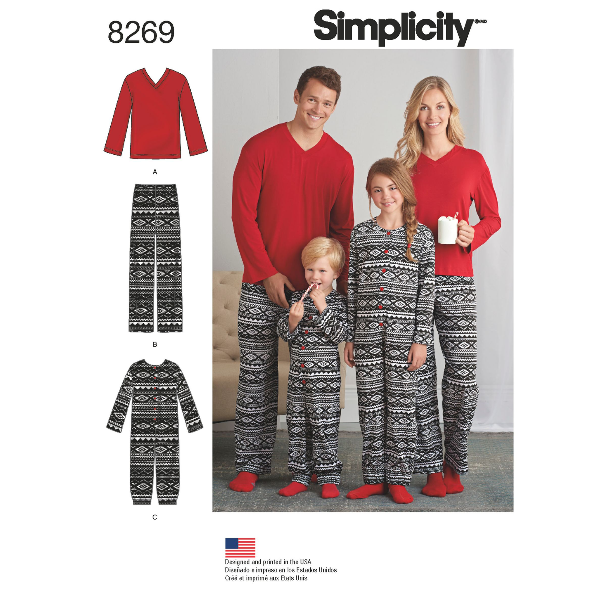 Simplicity Simplicity Unisex Adult Joggers and Children's Jumpsuit Sewing Pattern, 8269, A