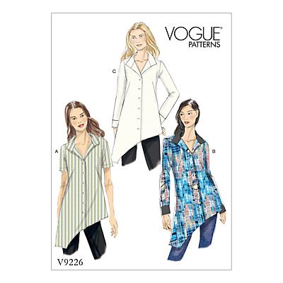 Vogue Women's Top Sewing Pattern, 9226
