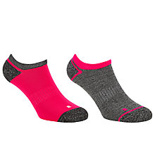 Buy John Lewis Sports Trainer Socks, Pack of 2, Neon Pink/Dark Grey Online at johnlewis.com