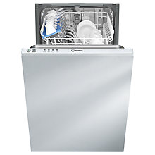 Buy Indesit DISR14B1 Slimline Integrated Dishwasher Online at johnlewis.com
