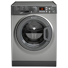 Buy Hotpoint Aquarius WMAQG641G Freestanding Washing Machine, 6kg Load, A+ Energy Rating, 1400rpm Spin, Graphite Online at johnlewis.com