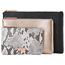 Buy Dune Samia Makeup Bag Trio Set, Grey Online at johnlewis.com
