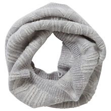 Buy Pure Collection Paisley Cashmere Cable Snood, Heather Dove/Soft White Online at johnlewis.com