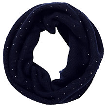 Buy Pure Collection Nyla Cashmere Sparkle Snood, Navy Online at johnlewis.com