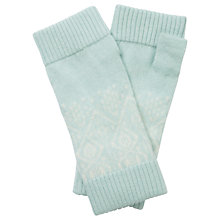 Buy Pure Collection Christina Cashmere Mittens, Opal/Soft White Online at johnlewis.com