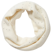 Buy Pure Collection Porter Sparkle Snood, Soft White Online at johnlewis.com