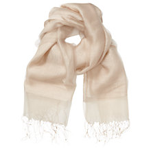 Buy Phase Eight Silk Blend Pashmina, Champagne Online at johnlewis.com