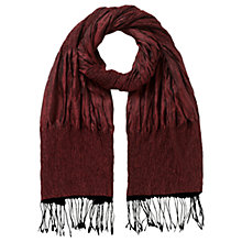 Buy East Ruched Silk Scarf, Crimson Online at johnlewis.com