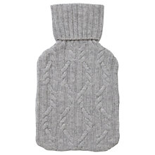 Buy Pure Collection Stephanie Hot Water Bottle And Cover, Heather Dove Online at johnlewis.com