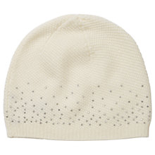 Buy Pure Collection Karen Cashmere Sparkle Hat, Winter White Online at johnlewis.com