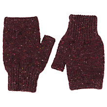 Buy Jigsaw Hana Donegal Fingerless Mittens Online at johnlewis.com