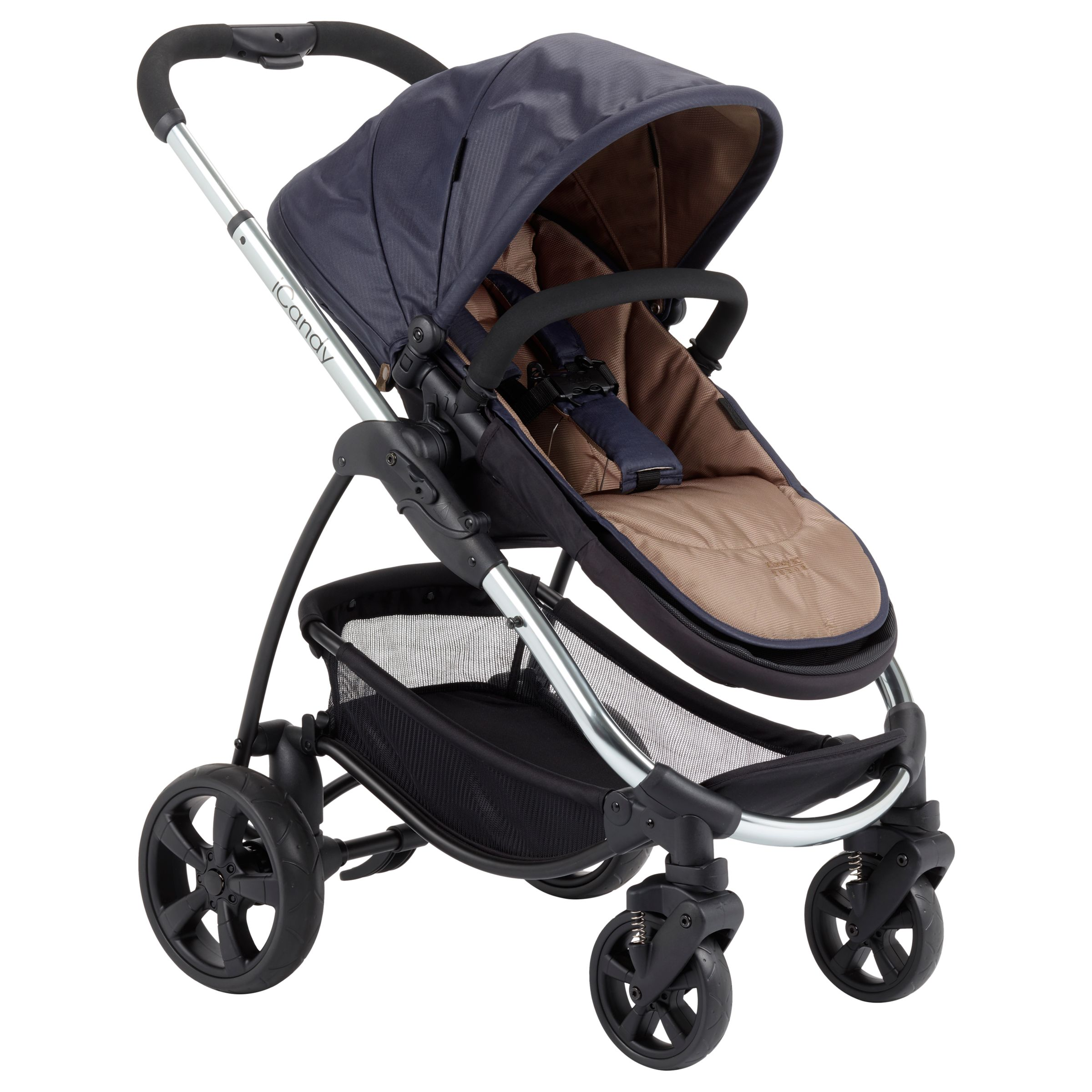 iCandy iCandy Strawberry Style Pushchair with Chrome Chassis & Carrycot, Tudor