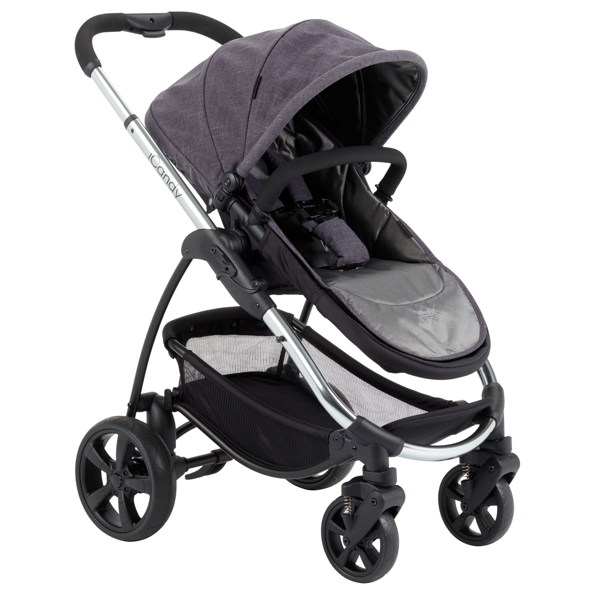 iCandy iCandy Strawberry Style Pushchair with Chrome Chassis & Carrycot, Soho