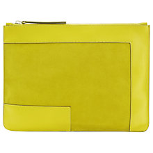 Buy Jaeger Laboratory Leather Clutch Bag, Yellow Online at johnlewis.com