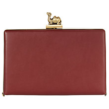 Buy Jaeger Leather Camel Clasp Box Clutch Bag Online at johnlewis.com