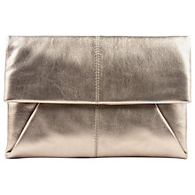 Buy Jaeger Leather Envelope Clutch Bag, Pewter Online at johnlewis.com