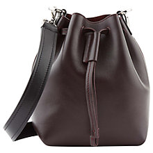 Buy Jaeger Oxford Mini Leather Across Body Bag, Wine Online at johnlewis.com