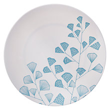 Buy MissPrint Melamine Fern Plate, Aqua Online at johnlewis.com